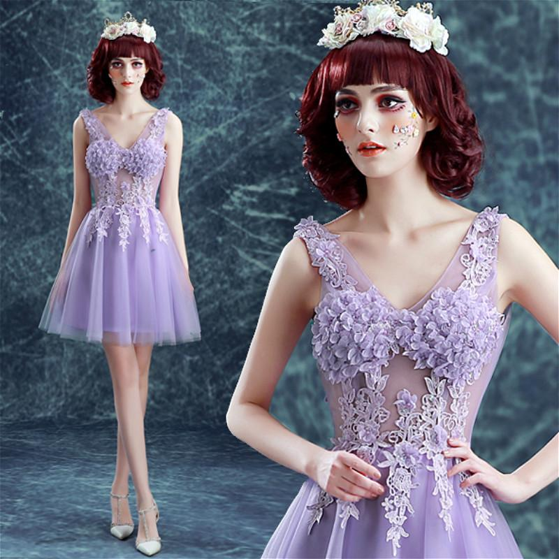 f56302c202 Prom Dresses - 10002 Free shipping 2016 New arrive fast shipping sex purle short  cocktail dresses