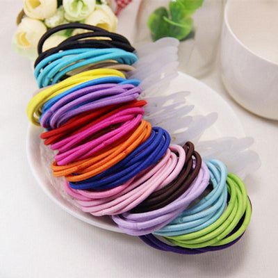 Hair Accessories - 100pcs Elastic Hair Bands Haar Accessories For Women Spiral Scrunchy Telephone Wire Springs And Gum For Hair Tie Headwear -   jetcube