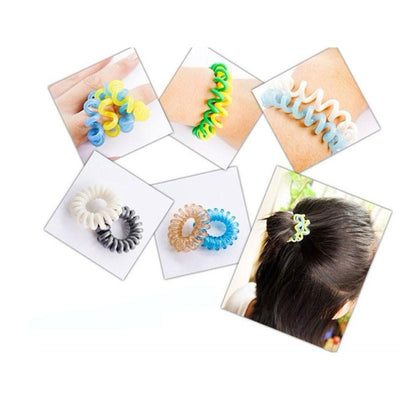 Hair Accessories - 100pcs Hair Accessories For Women Head Band Telephone Cord Phone Strap Plastic Hair Band Rope Hair Ties Headbands Rubber Bands -   jetcube