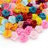 Hair Accessories - 100pcs/lot 1.5cm Fashion Handmade Ribbon Rose Flower For Wedding Decoration  Free Shipping 1-35 -   jetcube