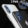 Screen Protectors - 2 Pcs/Pack Back Camera Lens Screen Protector Tempered Glass Full Cover Film For iPhoneX -   jetcube