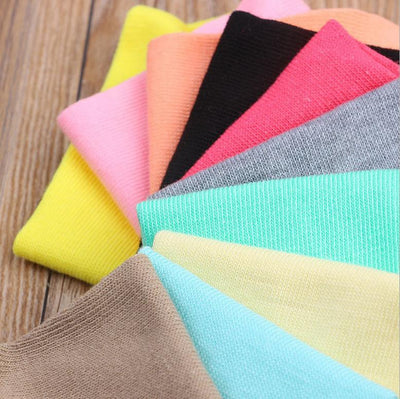 Socks - (10Pairs/lot)Wholesale Summer Solid Thin Short Women's Socks Female Cotton Low Cut Ankle Socks Ladies Colorful Cute Socks Boat -   jetcube