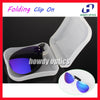 Sunglasses - 10pcs Mirror Lens Frog Driving Glasses Eyeglasses Sunglass Folding Polarized Clip On Sunglasses With Plastic Case Free Shipping -   jetcube