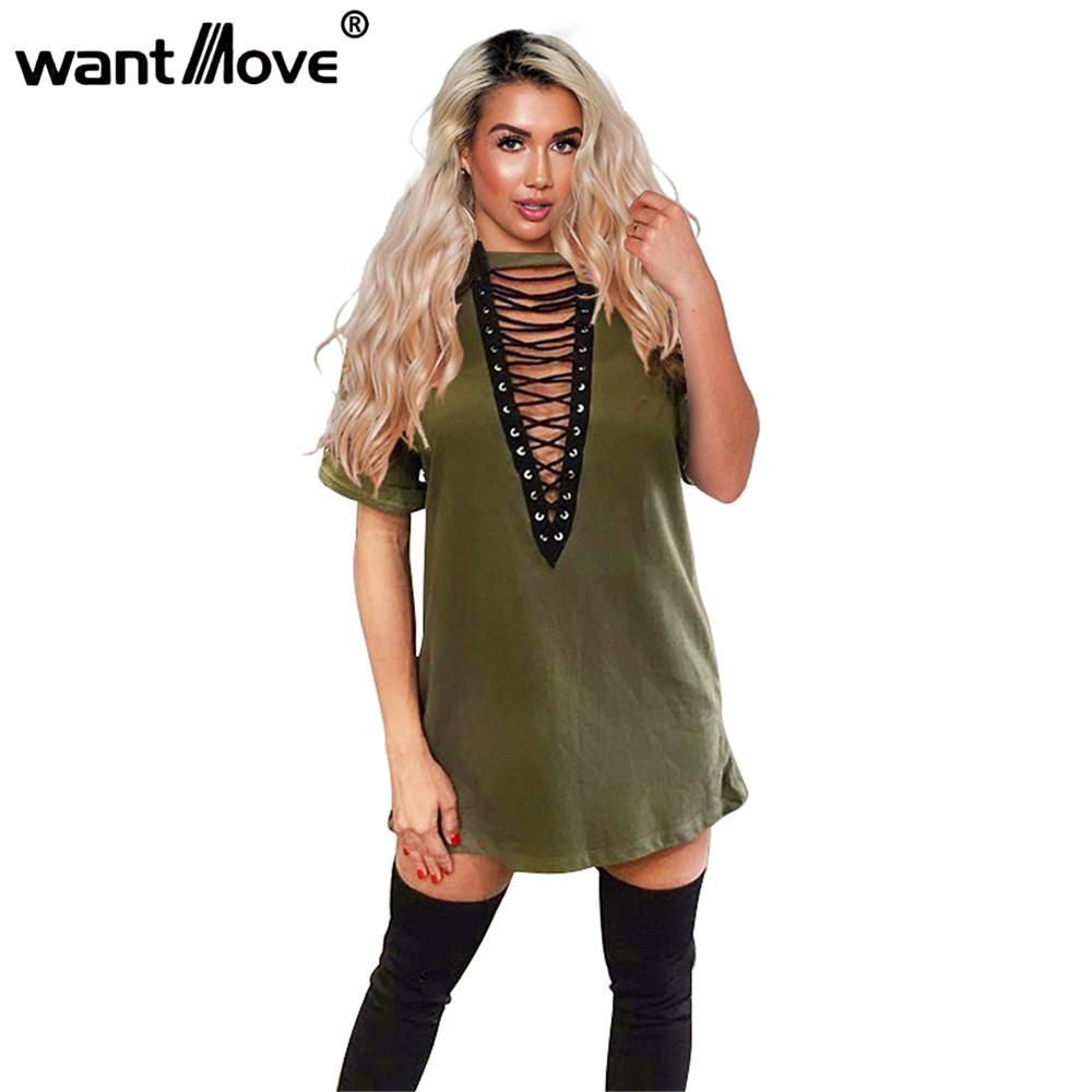 Dresses - 11 colors 2017 summer women t shirt mini tie-up dress black white bodycon sexy club tshirt tops tee plus size vestidos de festa -   jetcube