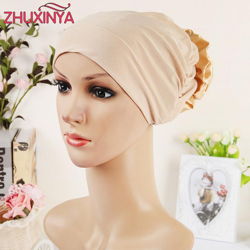 Scarves - 11 colors Islamic Scarves Wraps Hijab caps Womens 2017 New Designer Muslim All Inclusive Cap Curved Optional Women Muslims Hat -   jetcube