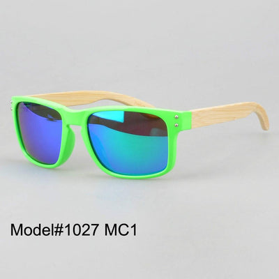 Sunglasses - #1207 man's bamboo nature sunglasses UV400 Polarized lens with spring hinge 6 color choice -   jetcube