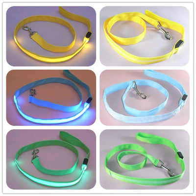 Dog Accessories - 120cm Nylon Pet LED Dog Leash Night Safety LED Flashing Glow LED Pet Accessories Cat Dogs Drawing Small Leads for LED Dog Collar -   jetcube
