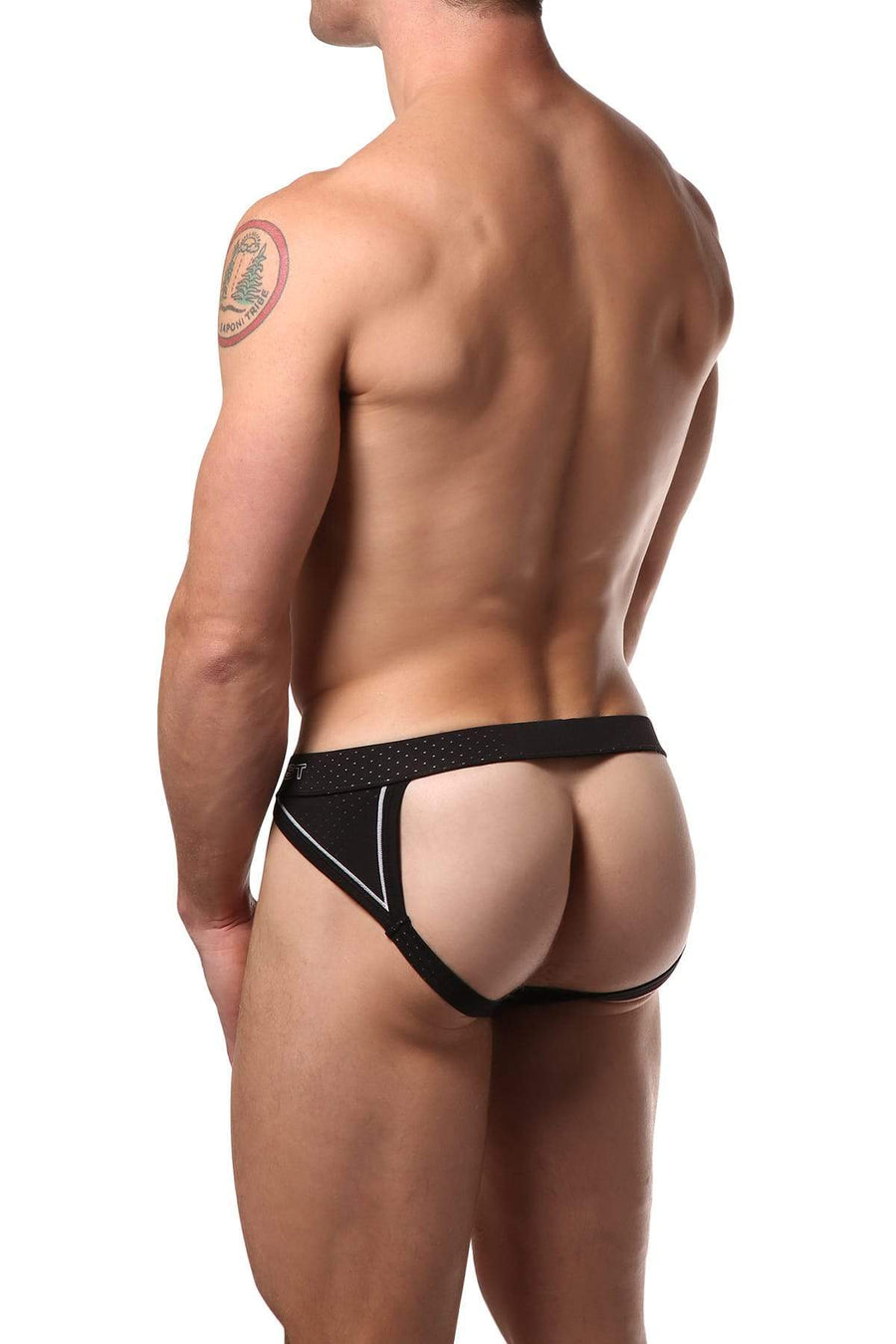 Jocks - 2(X)IST Black Cross Trainer Jockstrap -   jetcube