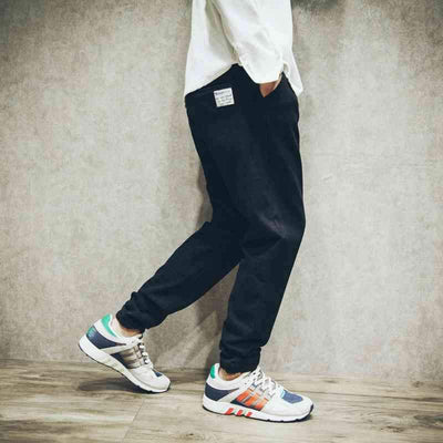 Pants - #1426 Summer 2017 Elastic waist Harem pants men Fashion Loose Elastic cotton Big size Hip hop pants Streetwear Black Joggers men -   jetcube