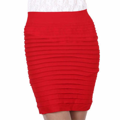 92cfcaa943 Skirts - 15 Colors Mini Jupe Bandage Slim Bodycon Bandage Skirts High Waist  Elastic Pleated Hip