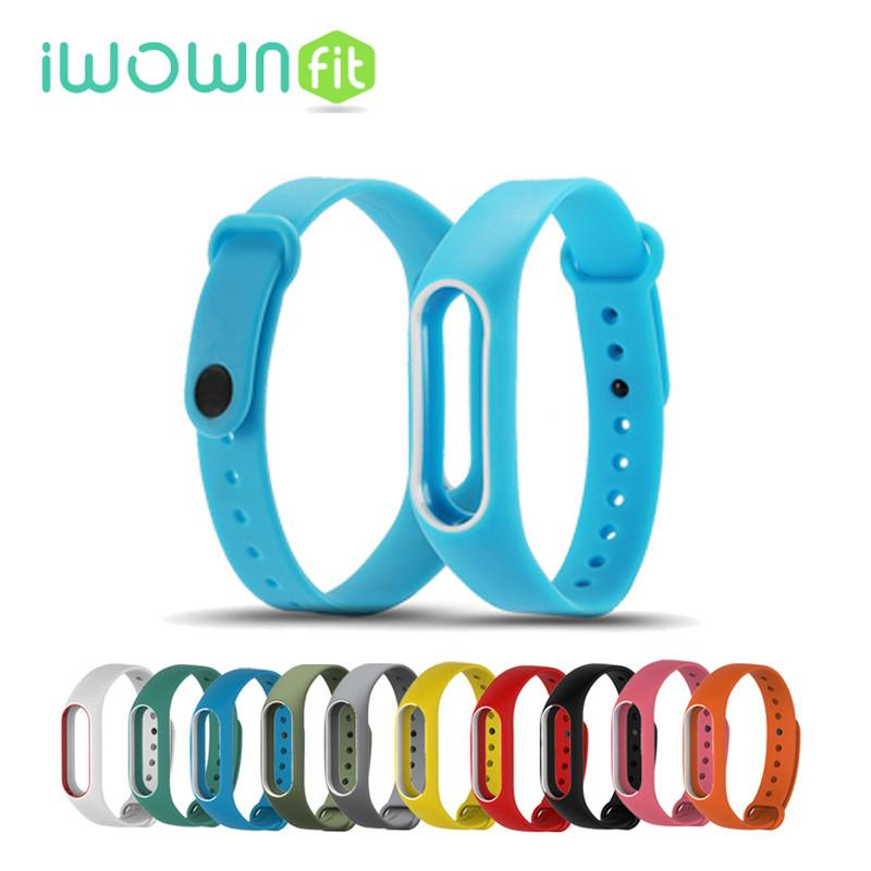 Smart Wristbands - 15 Colors Waterproof Silicone Belt Bracelet Double Colors Wristband Band Replace Accessories For Original Xiaomi Mi band 2 -   jetcube