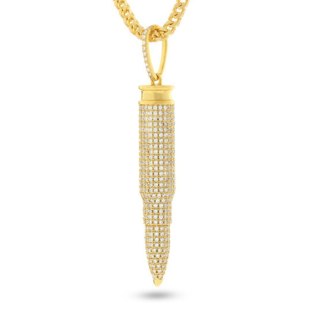 Pendants - 14K Gold .223 Caliber Bullet Necklace -   jetcube