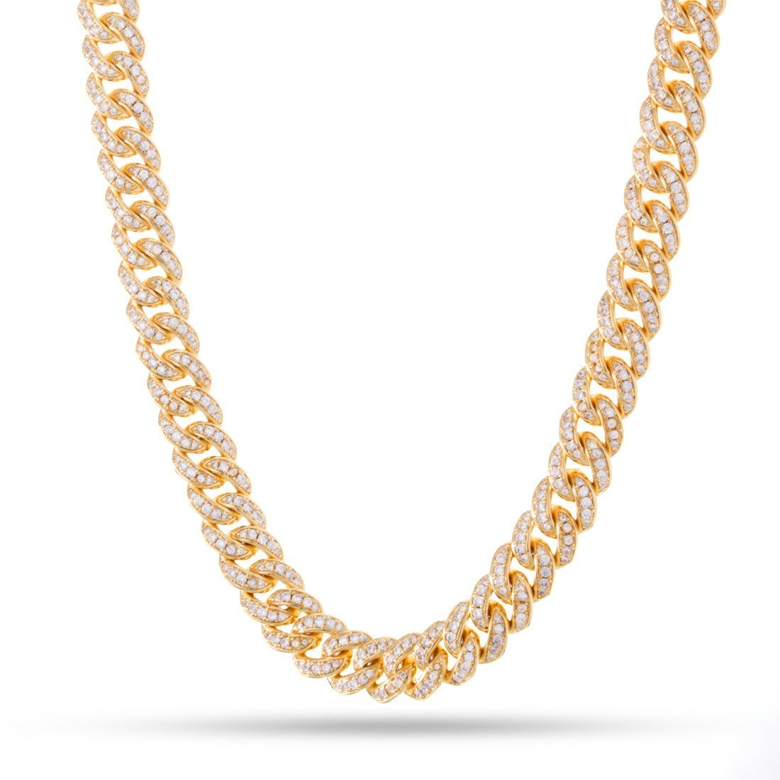 "Chains - 14K Gold 10mm ""Studded"" Miami Cuban Curb Chain -   jetcube"