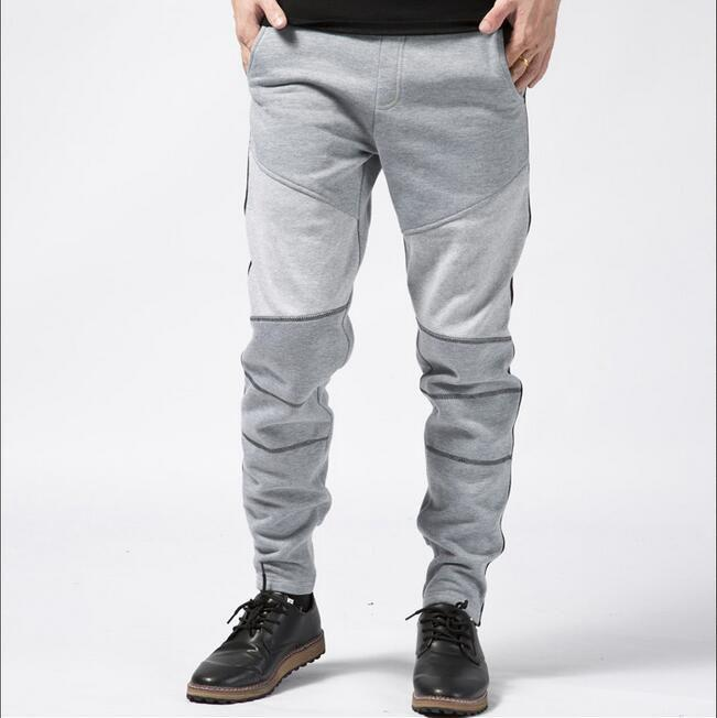 #1624 Spring/Fall Hip hop sweatpants for men Casual Loose Cotton trousers Mens joggers Grey color Harem pants men Pantalon homme