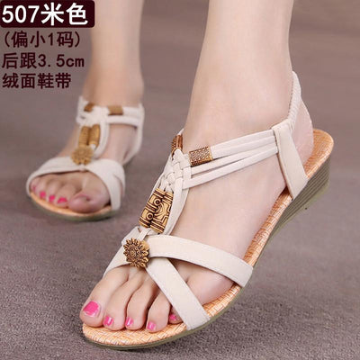 Womens Shoes - 18 Colors 2017 Summer Women Sandals Flat Flip Flops Gladiator Open Toe Women Shoes Buckle Strap Casual Beach Shoes -   jetcube