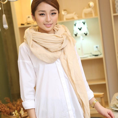 Scarves - 180*90CM Cachecol Feminino 2017 Winter Brand new Fashion Designer Solid long Cotton Blend Casual Scarf Women Scarves -   jetcube