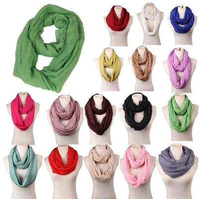 Scarves - 180CM*80cm Long Scarf Women linen Shawls And Scarves Solid Round Towel Autumn Winter Warm Scarf Poncho Feminino Inverno -   jetcube