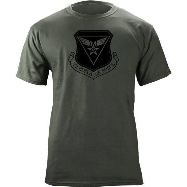 Shirts - 12th Air Force Subdued Patch T-Shirt -   jetcube