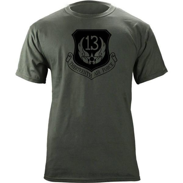 Shirts - 13th Air Force Subdued Patch T-Shirt -   jetcube