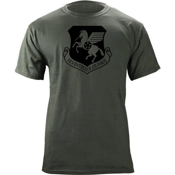 Shirts - 17th Air Force Subdued Patch T-Shirt -   jetcube