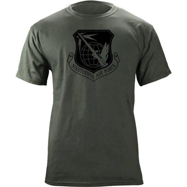 Shirts - 19th Air Force Subdued Patch T-Shirt -   jetcube