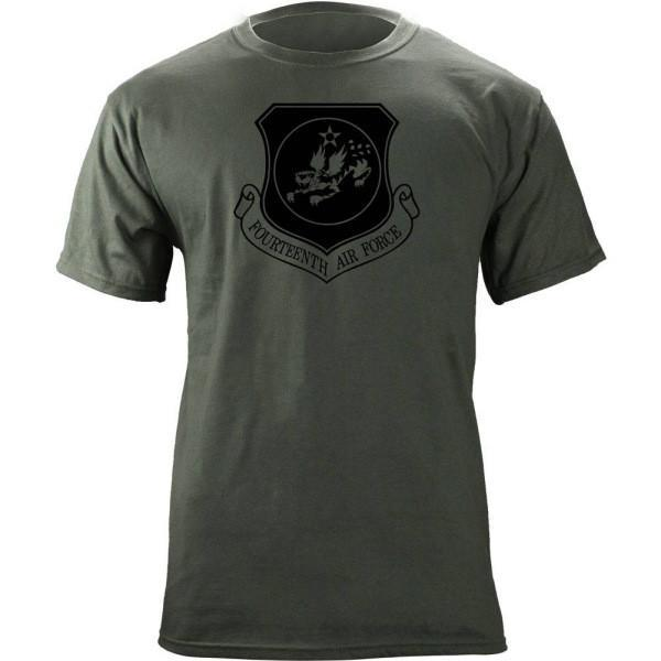 Shirts - 14th Air Force Subdued Patch T-Shirt -   jetcube