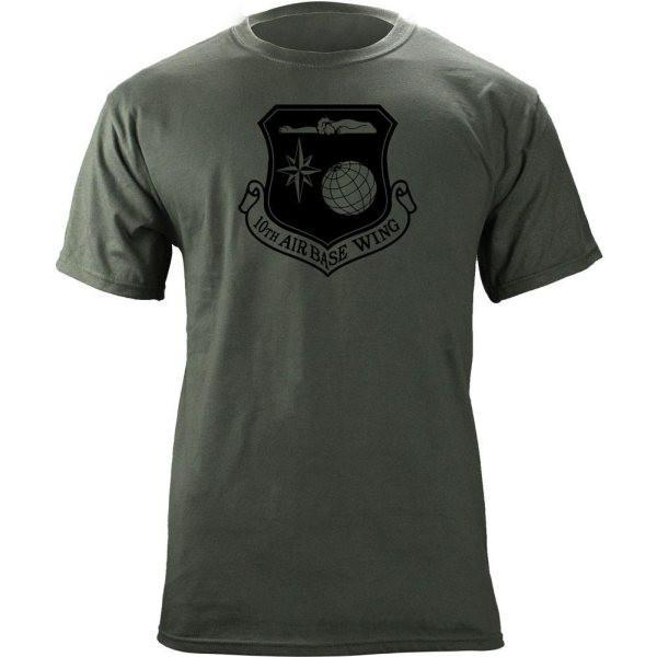 Shirts - 10th Air Base Wing Subdued Patch T-Shirt -   jetcube
