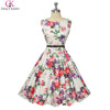 Prom Dresses - 1950 Prom Dresses Vintage Dress Summer 2017 Robe Grace Karin Polka Dot Floral Retro Swing Pinup Casual Plus Size Women Clothing -   jetcube