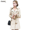 Blazers - 1PC Trench Coat For Women Double Breasted Slim Fit Long Spring Coat Casaco Feminino Abrigos Mujer Autumn Outerwear Z505 -   jetcube