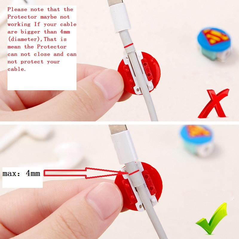 Digital Cables - 1PCS Cartoon USB Cable Earphone headphones line Protector For iPhone 5 S SE 6 6S plus 7 plus charging line data cable protection -   jetcube