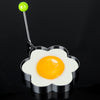 Drinkware - 1Pc Stainless Steel Egg Pancake Maker Egg Mold Cooking Tools Ring Heart Flower Kitchen Gadget Pancake Mold -   jetcube