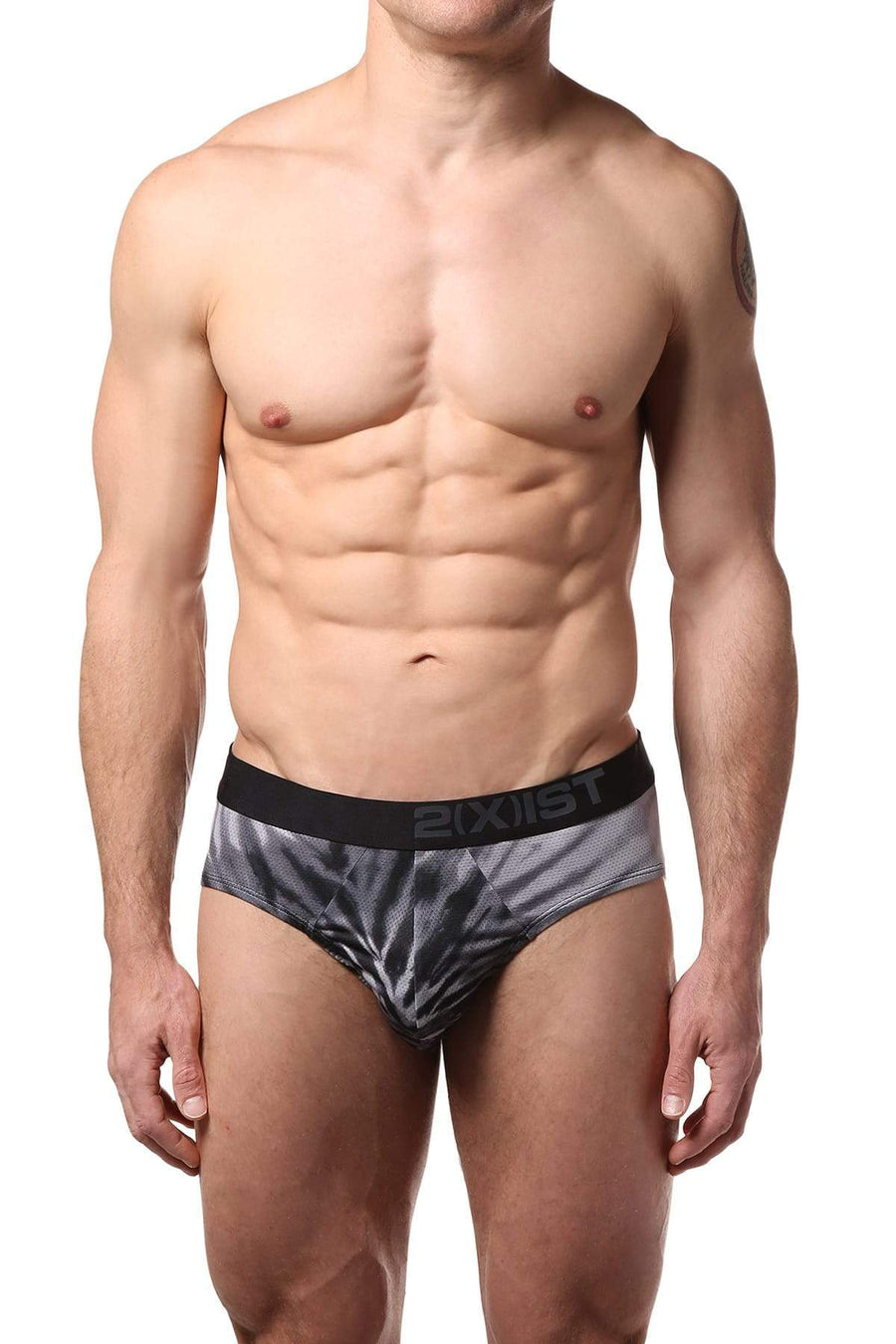 Briefs - 2(X)IST Black Graphic Sliq Micro Mesh Brief -   jetcube