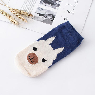 Socks - %  1pair 3D Cartoon animal dog Socks Women men Socks Fashion Boat Low Cut Style Woman Ankle Socks Casual Female girl boy gift -   jetcube