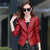 1pcs Women motorcycle leather jacket blazers 2017 Summer leather short suit Jacket ladies Skinny locomotive suit blazers coats