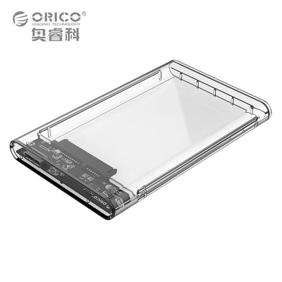 Digital Cables - 2.5 inch Transparent USB3.0 to Sata 3.0 HDD Case Tool Free 5 Gbps Support 2TB UASP Protocol Hard Drive Enclosure - (2139U3) -   jetcube