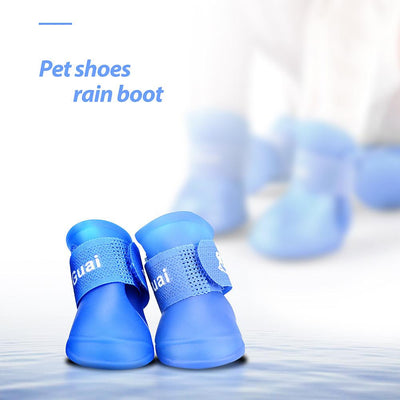 Dog Supplies - 2 Pair Dog Rain Shoes Environmental Dog Cat Rain Shoes Snow-proof Booties Harmless Durable Magic Tape Design Household Supplies -   jetcube