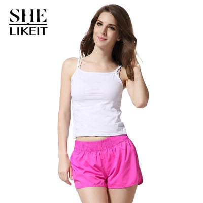 womens shorts - ( 2 Pieces a Lot) Lady Shorts Plus Size Summer Women Candy Colors Trousers Loose Shorts Quick-Drying Soft Workout -   jetcube