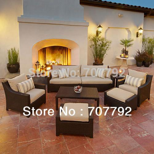Outdoor Furniture - 2013 New design rattan outdoor cheap sectional sofa -   jetcube