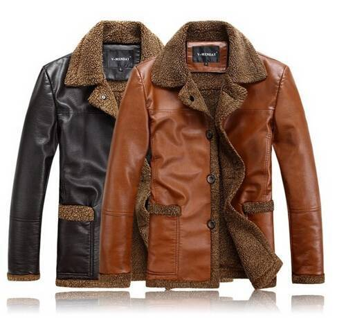 2014 Autumn Winter Casual Thickening Cashmere Men's Genuine Leather Jacket Men Sheepskin Coat For Men Winter Free shipping B2292