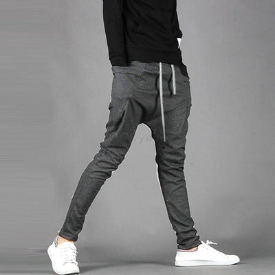 Pants - 2014 Spring Summer New Men's Casual Trousers Fashion Narrow Feet Drop Crotch Pants Mens Hip Hop Harem Sweatpants 25 -   jetcube
