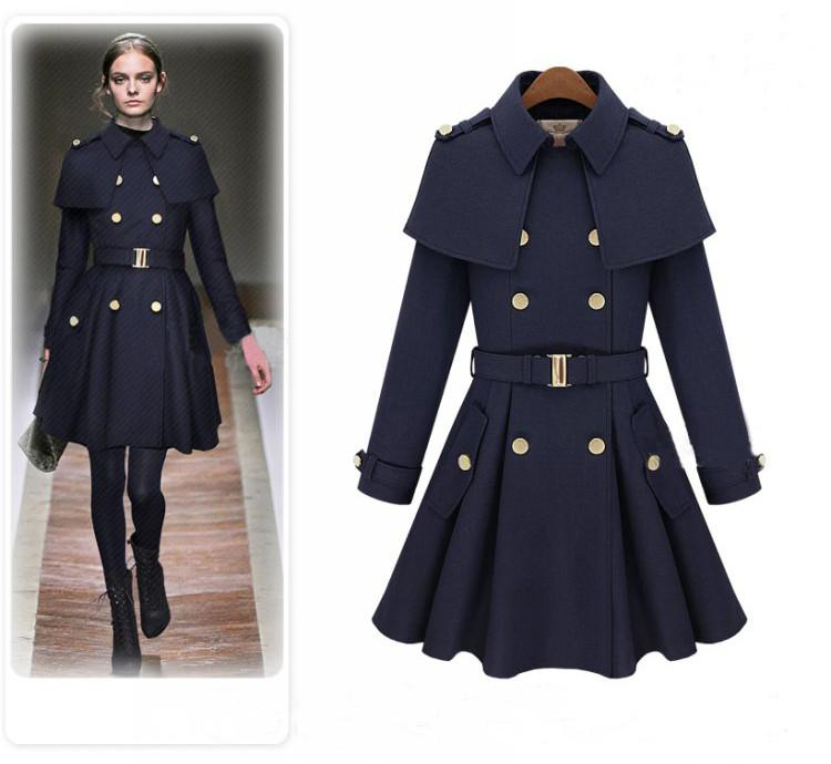 93f83eb44f7b Trench - 2014 new winter Korean fashion British style double-breasted  Women's Woollen Coat 3