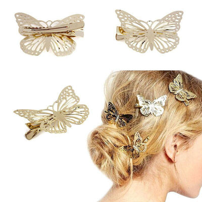 Baby Accessories - 2015 Amaing Coming Golden Butterfly Hair Accessories Hair Clip Headpiece Hair Head Side Decor Wedding Jewelry Free Shipping -   jetcube