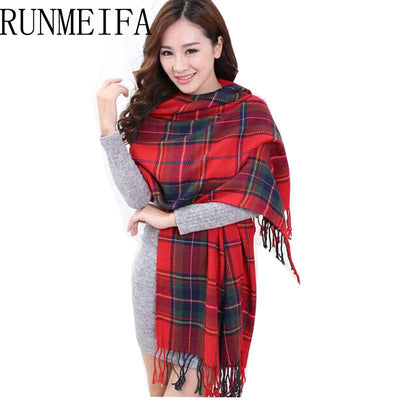 Scarves - 2015 Fashion Wool Women Scarf Spain Desigual Scarf Plaid Thick Large Scarf Women Warp echarpes Scarves Shawl for Woman -   jetcube