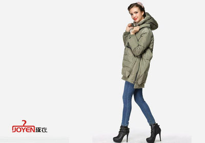 Down Coats - 2015   Winter New Korean Women Thick Down Jacket And Long Loose Coat Thick Warm Coat Casual Uniforms -   jetcube