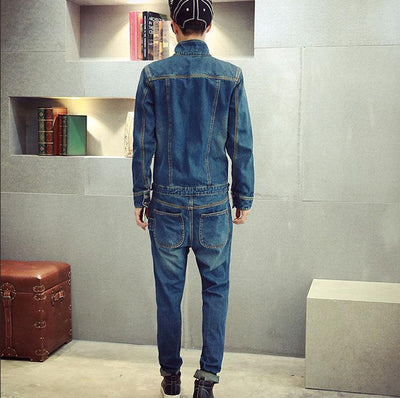 178769924a70 Jeans - 2016 Autum New Arrival Mens Denim Jumpsuit Overalls Full Sleeve  Slim Straight Jeans Casual