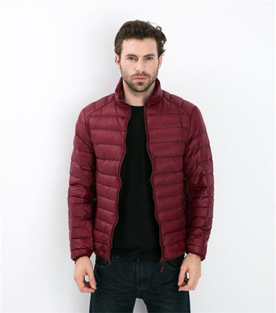 - 2016 Autumn Winter Duck Down Jacket, Ultra Light Thin plus size winter jacket for men Fashion mens Outerwear coat -   jetcube
