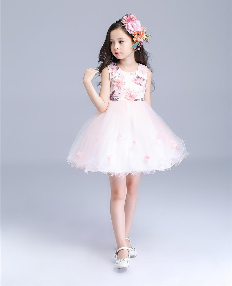 2016 Brand New Flower Girl Dresses Pink Real Party Pageant Communion