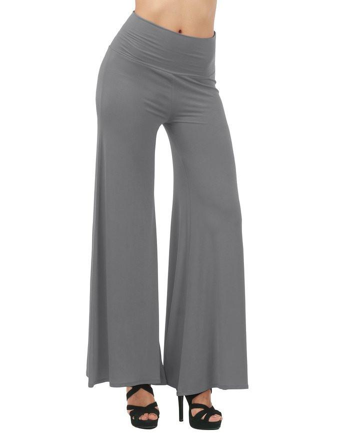 Pants & Capris - 2016 Casual Palazzo Pants Women Hippie Boho Vintage Ethnic Women Wide Leg Pants Female Trousers Loose Elastic Waist High Baggy -   jetcube