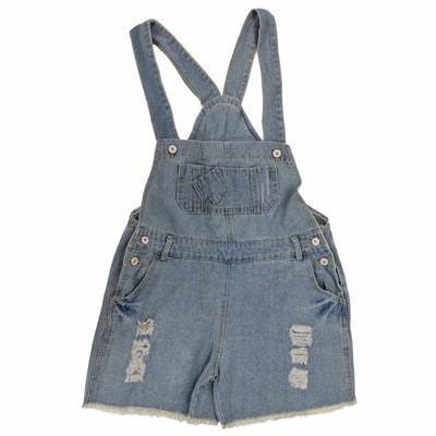 9b66f9ba06d Rompers - 2016 Fashion Girl Denim Rompers Strap Pockets Frayed Ripped Holes  Overalls Rompers Womens Jumpsuit