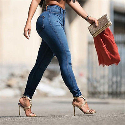 Jeans - 2016 Fashion Sexy Women Denim Skinny Pants High Waist Stretch Jeans Slim Pencil Trousers New -   jetcube